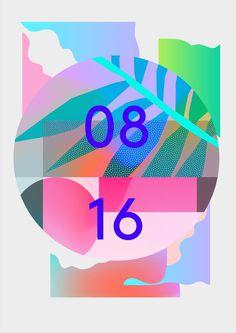 Pattern Soup #poster #gradient #tropical