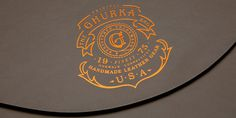 Ghurka leather #design #logo #foil #leather #badge