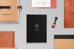 Aker Brygge — Various retail promotional material and stationery. Design by Sans Colour. #branding #stationery