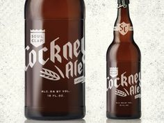 Dribbble - Cockney Ale bottle comp by Simon Walker