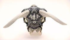 DZO #illustration #skull #found object