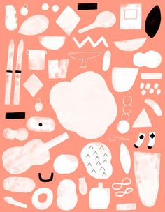 Wrap magazine | Colour blocking and pattern making // from Hanna Konola #icon #illustration #orange
