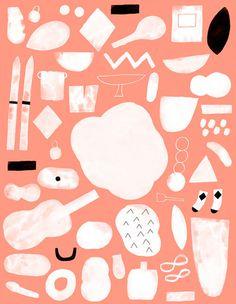 Wrap magazine   Colour blocking and pattern making // from Hanna Konola #icon #illustration #orange