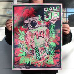 Dale Earnhardt Jr. Jr. Feature #bird #illustration #dale #poster #earnhardt #jr #neon