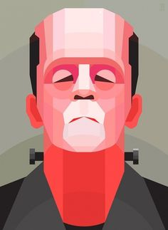 Frankenstein on the Behance Network #vector #frankenstein #geometric #illustration #portrait #monster #zombie