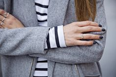 (22) Likes | Tumblr #fashion #coat #jewelry #grey