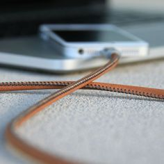 Leather Charging Cable #tech #flow #gadget #gift #ideas #cool