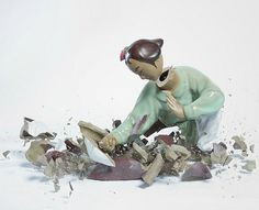 Série photos «Porcelain Fighters», par Martin Klimas | WALL magazine – Daily art news #porcelain #fighters #photography #klimas #martin