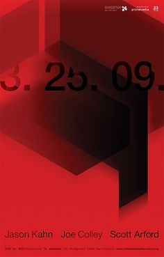 Kahn/Colley/Arford Poster | Flickr - Photo Sharing! #swiss #red #black #grid #poster #helvetica
