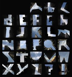 Photojojo! • German artist Lisa Rienermann created a complete... #sky #alphabet #typography