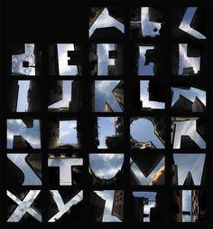 Photojojo! • German artist Lisa Rienermann created a complete... #sky #alphabet #typography