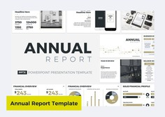Annual Report PowerPoint Template by CreativeSlides