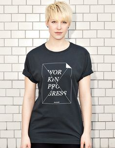 WORK IN PROGRESS - STILL BLANK? - dark grey t-shirt - women | NATRI - Shirt Label