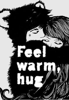 Hug Art Print by Eddie Opara Easyart.com #inspiration #quote #print #design #monochrome #illustration #motto #art #poster