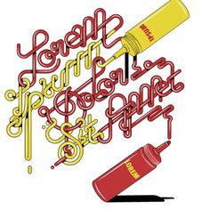 Alex Trochut « LetterFresh #sauce #ipsum #trochut #lorem #typography