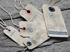 Fat Face swing tickets sewn distressed