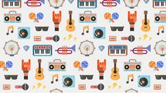 Google Play Music on Behance #vector #color #icons #awesome