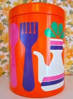 Pomme de Jour: Vintage 1960s Kitchen Tin #tin #vintage