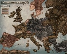 Leviathon Map #war #the #1914 #wwi #great