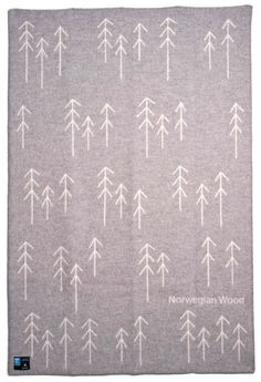 Norwegian wood blanket #minimal #wood #pattern #forest #fabric