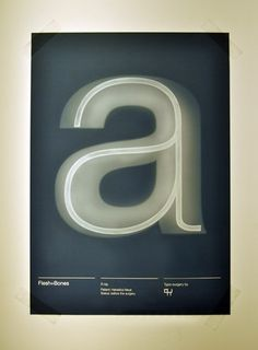 fleshbones1 poster by london college of communication 2011 #ray #effects #typography