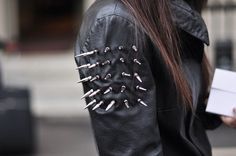 Tiffany Denise #shoulders #diy #leather #studded