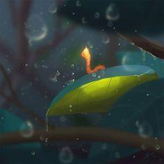 Fire Worm – Digital Art