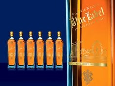 Johnnie Walker cityscape label #packaging #city #design #label #scape #johnnie #walker