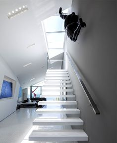 Sunny and Elegant Montee Karp Residence - #stairs, #staircase, #stairway, architecture, stairs