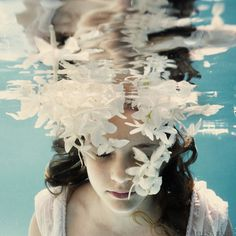 My Fair Ladies - Elena Kalis #submerged #ripples #water #petals #girl #photography #underwater #flowers