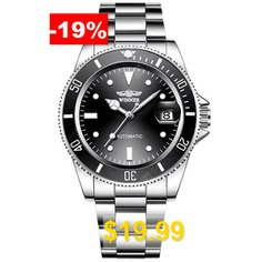 WINNER #Men #Fashion #Date #Display #Automatic #Mechanical #Watch #Durable #Stainless #Steel #- #MULTI-F