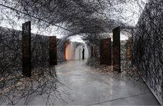 CJWHO ™ (Installations by Chiharu Shiota Chiharu Shiota...) #chiharu #installation #design #interiors #strange #art #threads #shiota #weird