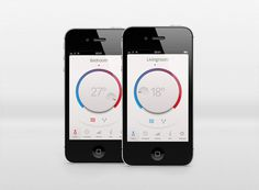 Thermostat app iphone #ios #app #thermostat #ui