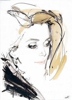 MademoiselleB_DavidDowntown_Catherine-Deneuve.jpeg (866×1200) #downton #illustration #david