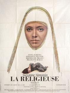 French grande for LA RELIGIEUSE aka THE NUN (Jacques Rivette, France, 1966) Designer: René Ferracci Poster source: Posteritati See more posters for LA RELIGIEUSE at Movie Poster of the Week on MUBI Notebook.