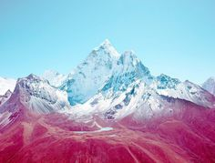 Nick Meek #mountain #red #filter #retro #snow