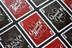 The Face Cards from The Type Deck - Typography Playing Cards