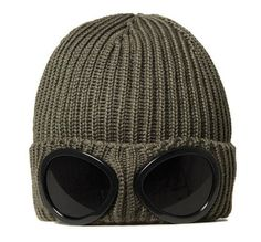 cp company goggle beanie #glasses #wool #head #bonnet
