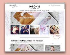 I love PONYS MAGAZINE #design #website #grafic #webdesign #layout #web