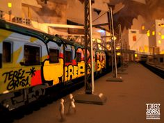 GRIS1 / solo show | Flickr Photo Sharing! #train #gris1 #art #street #miniature