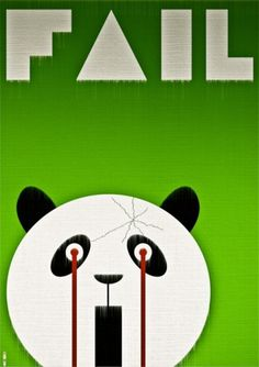 |)E$1GN - ²°'' #vector #panda #design #graphic #fail #poster #canvas #green