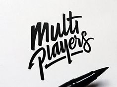 Multiplayers | Logotype #logo #type #multiplayers