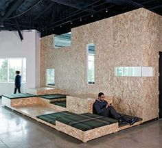 studio O+A: AOL offices #wood #office