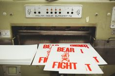 Bear Fight #letterpress #poster #fight #bear #letterpressed