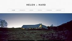 Helen & Hard - Web design inspiration from siteInspire #nvbn