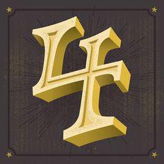 Type design of the number 4 for a TypeFight battle against Ellijot!