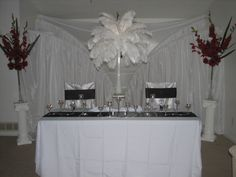 Crockery Table for Wedding Reception #reception #wedding #decorations