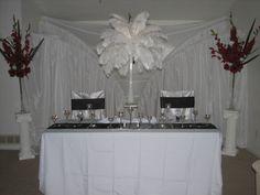 Crockery Table for Wedding Reception