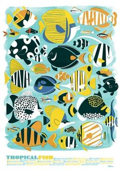 tumblr_lwk0221dMz1qbiglgo1_1280.jpg 842×1,190 pixels #tropical #fish #retro #illustration #poster #peskimo