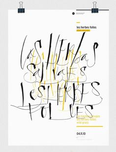 les herbes folles on the Behance Network #les #calligraphy #fer #cozzi #herbes #folles